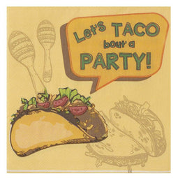 150PC Luncheon Cocktail Disposable Paper Napkins Fiesta Taco Party Supplies 2Ply
