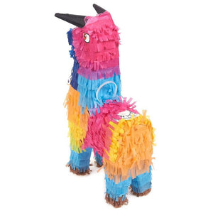 3 Pack Miniature Bull Pinatas, Mini-Sized Rainbow Mexican Pinatas 5.25 x 9 x 2""