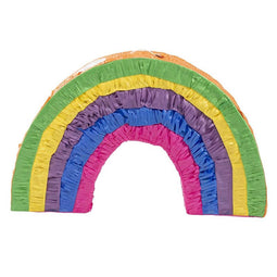 Small Rainbow Star Pinata, Fiesta and Birthday Party Supplies, 12.6 x 12.6 x 3""