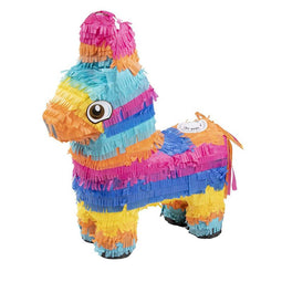 Small Donkey Pinata, Fiesta, Cinco de Mayo, Birthday Party, 12.5 x 15.7 x 4.7""