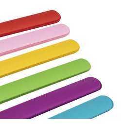 24-Pack Soft Silicone Slap Bracelets for Kids Party, 4 of Each 6 Color, 8.5 x 1""
