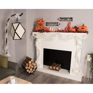 Halloween Party Supplies - 8-Piece Halloween Decorative Signs, Cutouts, Perfect for Zombie, Vampire, Werewolf Theme Party Decor, Photo Booth Props, 8 Assorted Designs, 17.5 x 4 Inches