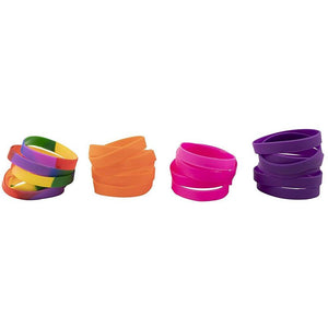 48-Pack Silicone Wristbands for Sports Teams, 8 Colors, 8.1 Inch, Wide: 0.4 Inch