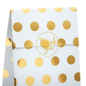 Sparkle and Bash Gold Foil Party Favor Gift Bags and Stickers (24 Pack)