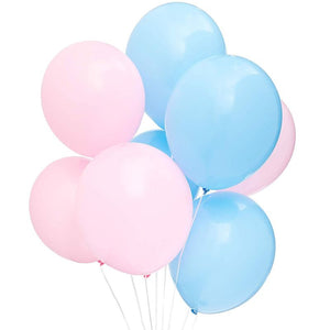 Blue Panda 100PCS Gender Reveal Party Balloons for Party Decor, Pink and Blue