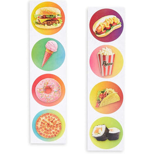 Blue Panda (1000 Count) Fast Food Sticker Roll for DIY Arts Crafts, 1.5 Inches