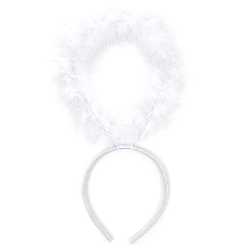 Halo Headband & Wings, Angel Halloween Costume Accessories for Kids (2 Pieces)