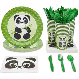 Serves 24 Panda Animal Party Supplies Decorations for Kids Boys Girls