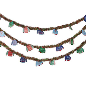 Ugly Sweater Holiday Garland for Christmas Party (26 Feet)