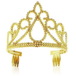 12 Pack Gold Tiara for Girls, Princess Dress Up Crown for Kids Costume Birthday Party Favors in Bulk