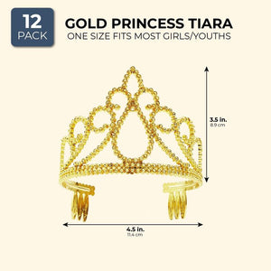 12x Princess Tiaras Crown Headband Headpiece for Kids Girls for Cosplay Birthday
