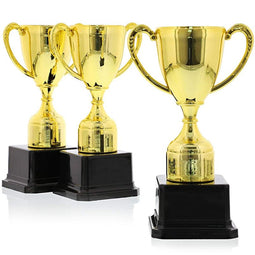 Gold Award Trophies for Sports and Competitions (7 Inches, 3 Pack)