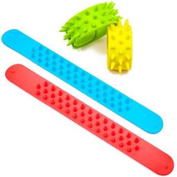 12x Soft Spiky Slap Bracelets Toys for Kids Party Favors, 4 Colors 8.45 x 1 inch