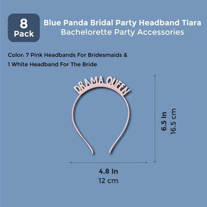 8x Bride Bridesmaids Headband Tiara Bachelorette Party Bridal Party Accessories