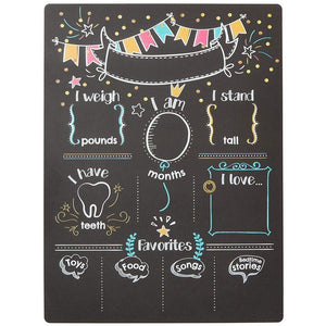 Blue Panda Milestone Chalkboard - Baby Photography Prop - 11.8 X 19.7 inches