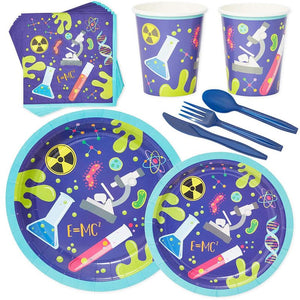 Serves 24 Science Lab Birthday Party Supplies Decorations for Kids Boys Girls
