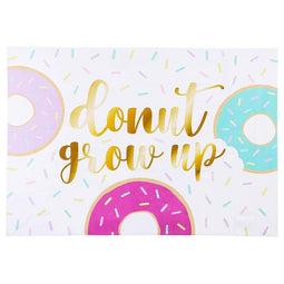 Donut Grow UP Photo Backdrop for Birthday Party Decoration Baby Shower, 5 x 7 ft