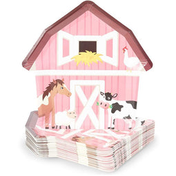 48 Barnyard Animal Party Paper Plates Farm House Birthday Baby Shower Supplies