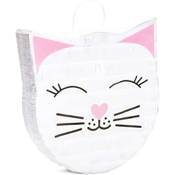 "Cat Pinata for Kids Birthday, Baby Shower, Kitten Meow Party Supplies 14""x12.8"""