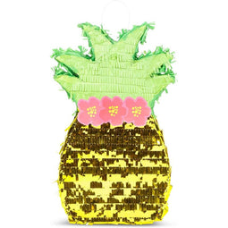 Tropical Pineapple Pinata for Hawaiian Luau Summer Birthday Party Supplies 16.5""