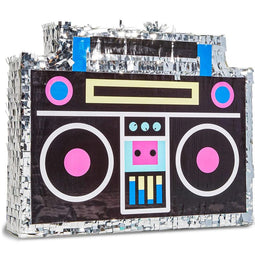 Boombox Pinata for Retro 80s 90s Hip Hop Rappers Party, Birthday Supplies 16.5""