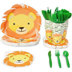 Serves 24 Lion Birthday Party Supplies Safari Jungle Animal Baby Shower Plates