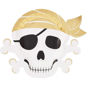 Pirate Party Supplies, Skull Plates (13 x 10 in., 48 Pack)