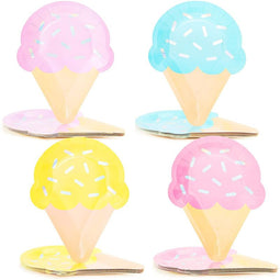 48 Ice Cream Paper Plates, Summer Pool Beach Party Supplies Birthday Baby Shower