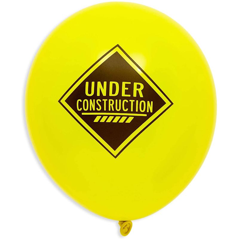 50pcs Construction Theme Latex Balloons, Birthday Party Supplies and Decorations