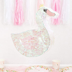 Princess Swan Pinata for Girl Baby Shower, Kids Birthday Party Supplies 16.25""