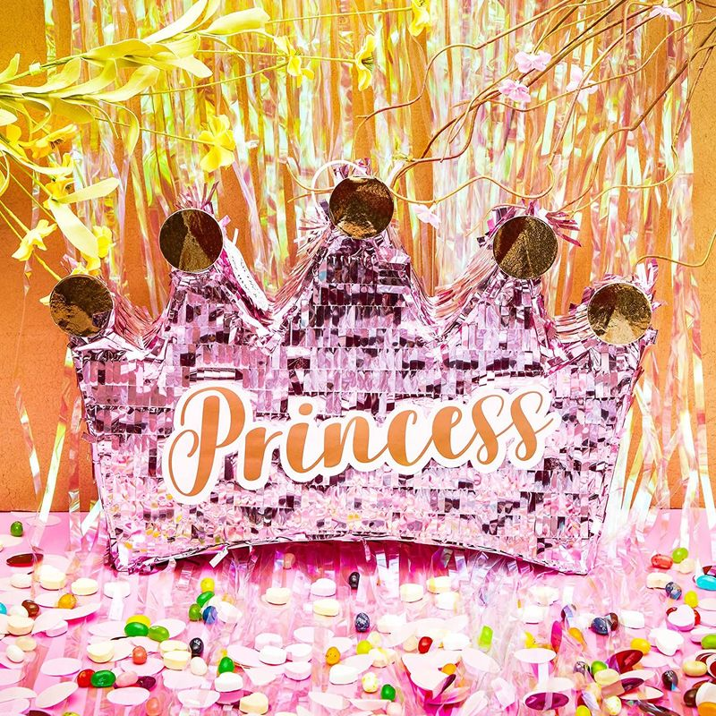 Princess Crown Pinata, Girls Birthday Party Supplies, Baby Shower Decoration 16""