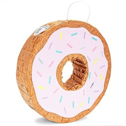 Donut Pinata for Baby Shower, Gender Reveal, Kids Birthday Party Supplies 12.75""