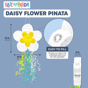 Daisy Flower Pull String Pinata, Baby Shower Floral Birthday Party Supplies 13""