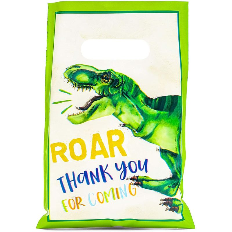 100pcs Dinosaur Party Favor Goodie Bag for Dino T Rex Birthday Treat Gifts 9.4""