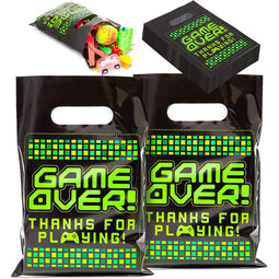 Video Game Party Favor Goodie Bags (9.3 x 6.5 in, 100 Pack)