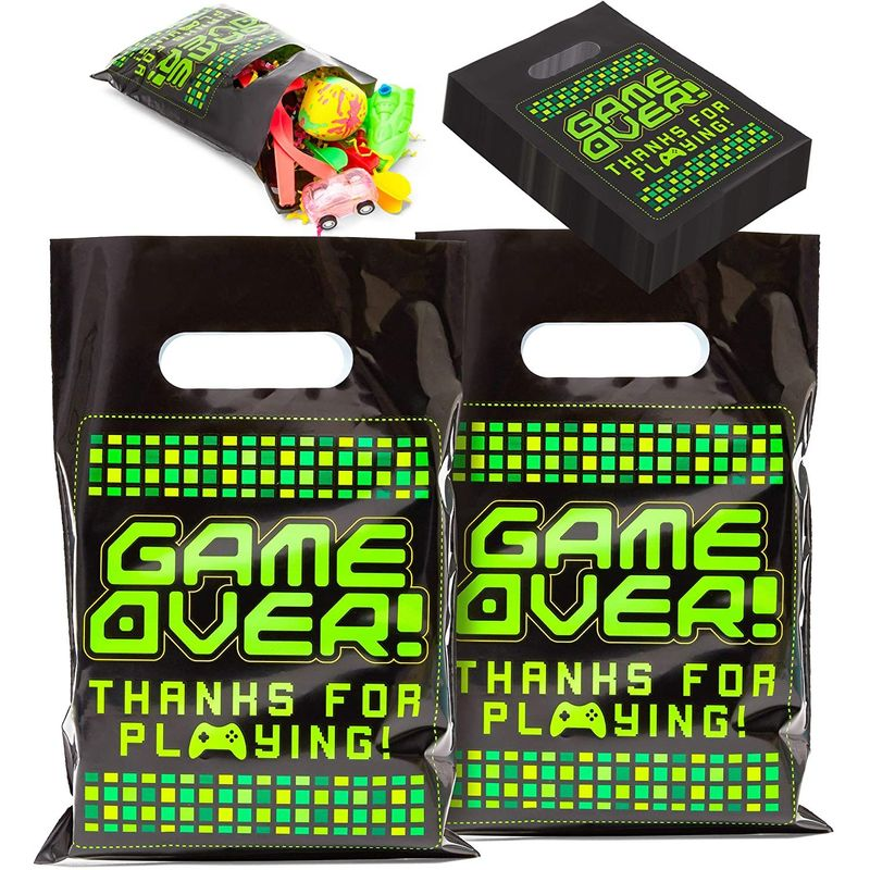 100pcs Video Game Party Favor Goodie Bag for Gamer Birthday Treat Gifts 9.4""