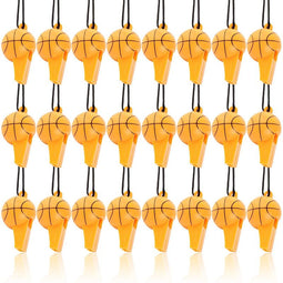 Basketball Whistles for Party Favor, Sports Birthday Supplies (24 Pack)