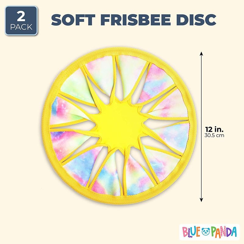 Soft Catch Flying Disc Toy (Yellow, 12 Inches, 2-Pack)