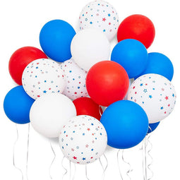 116pc USA Patriotic Latex Balloons, 4th of July Party Supplies and Decorations