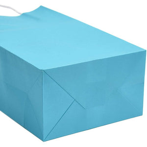 "25pcs Blue Kraft Paper Gift Bags, Party Favor Bags with Handles, 5""x3.15""x9"""
