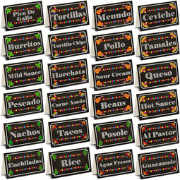 60x Mexican Fiesta Party Place Cards Taco Bar Decoration for Cinco de Mayo 3.5x2