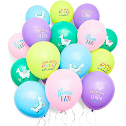 50pcs Llama Latex Balloons Mexican Fiesta Birthday Party Supplies & Decorations