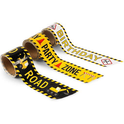 Construction Birthday Party Decoration Tape (3 in, 100 Ft, 3