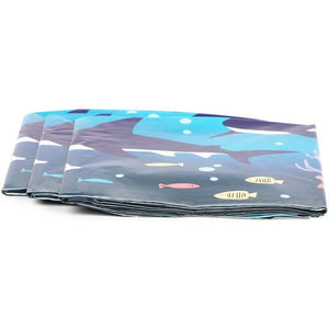 Shark Party Supplies, Plastic Tablecloth (54 x 108 in, 3-Pac