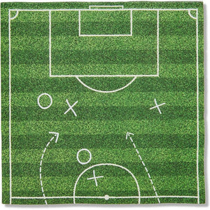 Soccer Party Paper Napkins for Sports Birthday (6.5 x 6.5 In, 100 Pack)