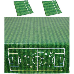 Soccer Party Plastic Table Covers (54 x 108 in, 3 Pack)