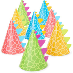Dinosaur Party Hats for Kids Birthday, Cone Party Hats (4.75