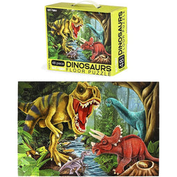 Giant Jigsaw Floor Puzzle for Kids, Dinosaur (2.9 x 1.9 Ft, 35.3 x 23.5 in, 48 Pieces)