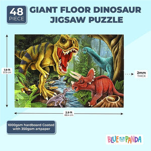 Dinosaur Floor Puzzle (1.9 x 2.9 Ft, 48 Pieces)