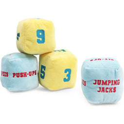 Exercise Dice, Cube Plush (4 in, 4 Pieces)